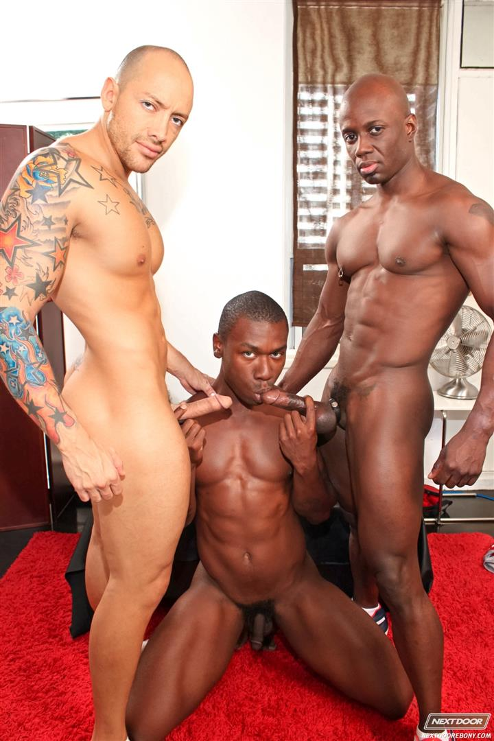 Next Door Ebony Jordano Santoro and Jay Black and Damian Brooks Interracial Gay Fucking Threeway Amateur Gay Porn 07 Interracial Muscle Couple Picks Up A Black Muscle Stud In The Park