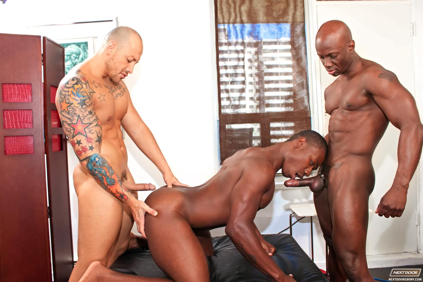 Next Door Ebony Jordano Santoro and Jay Black and Damian Brooks Interracial Gay Fucking Threeway Amateur Gay Porn 08 Interracial Muscle Couple Picks Up A Black Muscle Stud In The Park