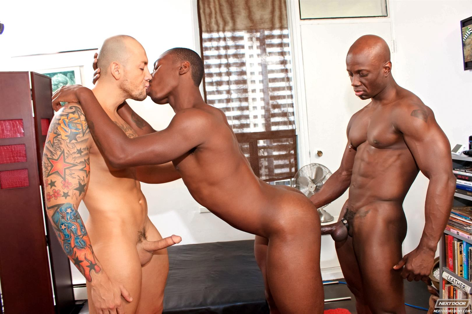 Next Door Ebony Jordano Santoro and Jay Black and Damian Brooks Interracial Gay Fucking Threeway Amateur Gay Porn 12 Interracial Muscle Couple Picks Up A Black Muscle Stud In The Park