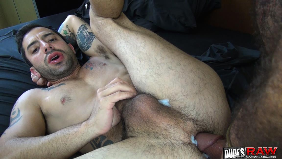 Dudes-Raw-Alessio-Romero-and-Nick-Cross-Hairy-Latino-Muscle-Daddy-Barebacking-Amateur-Gay-Porn-51 Hairy Muscle Daddy Alessio Romero Barebacking Nick Cross