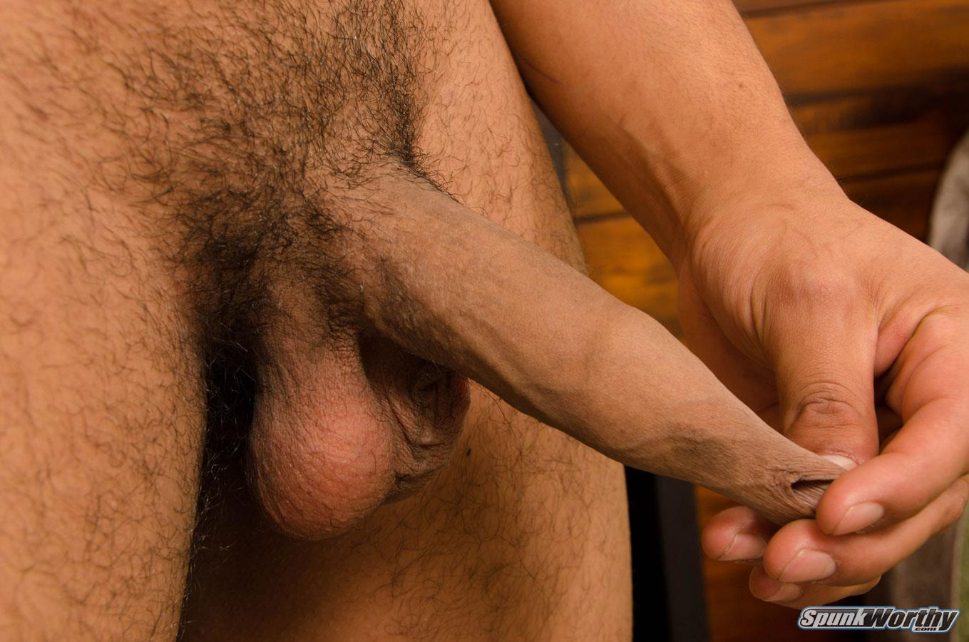 SpunkWorthy Chewy Football Jock Stroking Thick Uncut Cock Amateur Gay Porn 04 Straight High School Football Jock Strokes His Big Uncut Cock